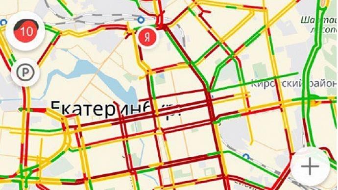 «Яндекс» предупредил граждан Краснодара опредпраздничных пробках
