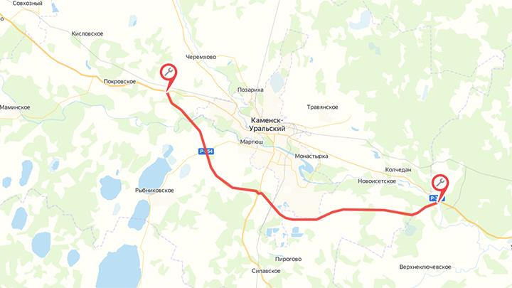 На трассе под Каменском-Уральским ограничат движение