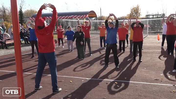 ЗОЖ круглый год: в Камышловском районе открылась новая спортплощадка