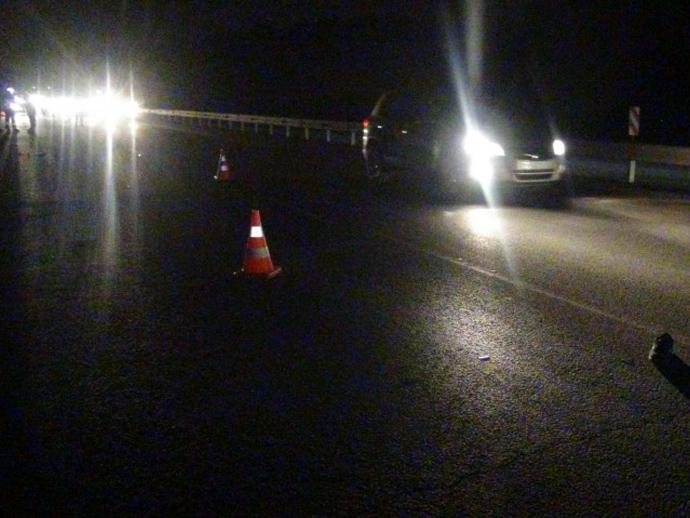 На345-м км дороги Пермь— Екатеринбург VW Golf насмерть сбил мужчину
