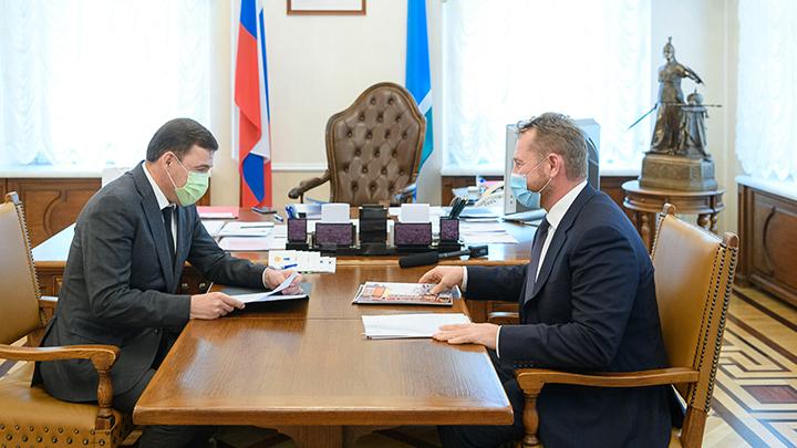 Евгений Куйвашев обсудил развитие Берёзовского с депутатом Брозовским