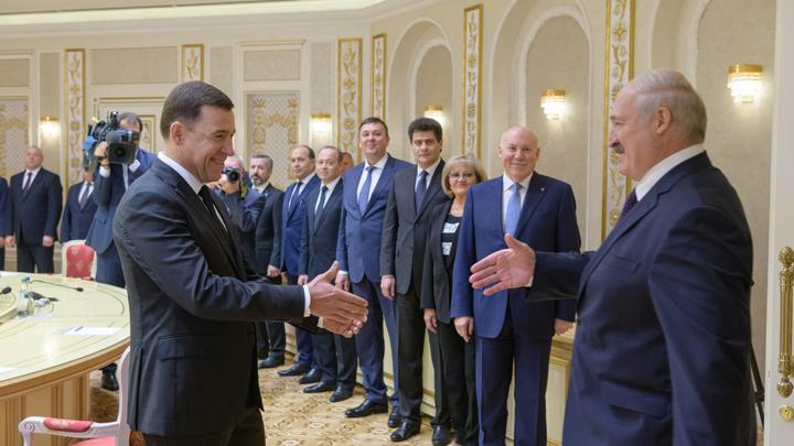 Александр Лукашенко и Евгений Куйвашев обсудили сотрудничество
