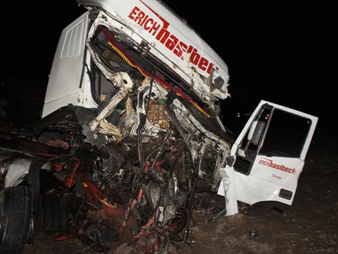 НаСеровском тракте столкнулись три фургона  Сегодня в10:33