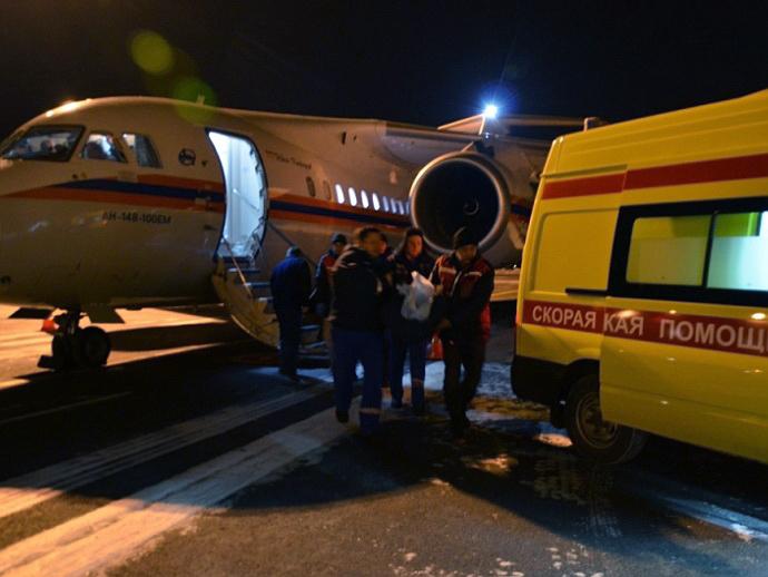 ВЕкатеринбург спецбортом МЧС доставили тяжелобольного ребенка из столицы