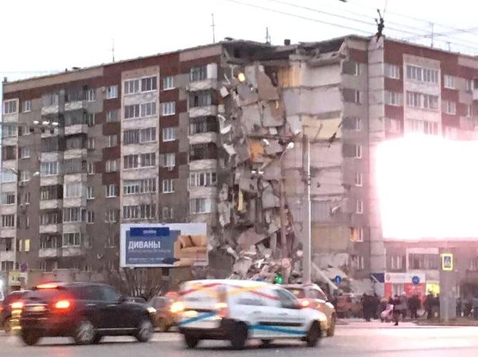 Обрушение дома вИжевске: среди погибших двое детей