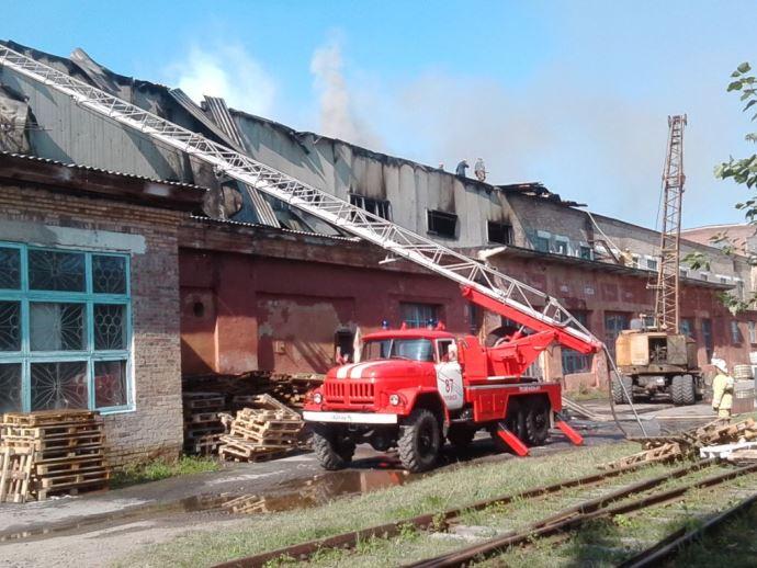 НаУрале зажегся цех целлюлозно-бумажного завода
