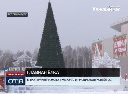 В Екатеринбурге открылась главная ёлка Свердловской области